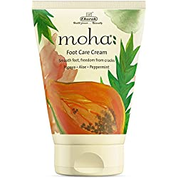 moha: Foot care cream - Smooth feet, freedom from cracks with Papaya, Aloe and Peppermint (100gm)