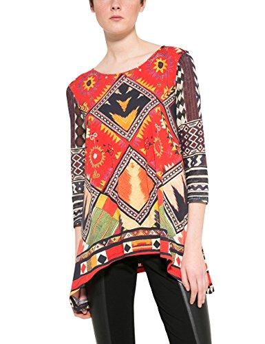 Desigual Ts_jani, T-Shirt Donna Rosso (Carmin 3000)