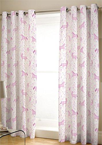 Folk Einhorn–Vorhänge–Pink