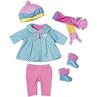 Baby Born-823828 Conjunto De Nieve (Bandai 823828)