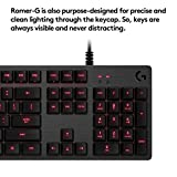 #5: Logitech G413 Backlit Mechanical Gaming Keyboard with USB Pass-Through (Carbon)