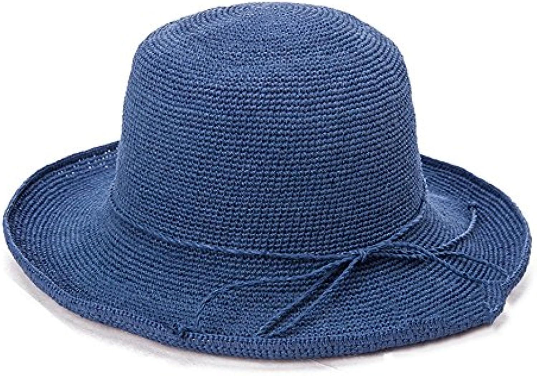 Cappello ZHIRONG Estate Estivo da da Estivo Donna Spiaggia Holiday può  Essere Piegato Estate Casual Tesa ba89e70eed74