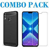 AONIR Tempered Glass & Hybrid Back Cover_Combo Pack_ Premium Quality Screen Guard And Soft Case Cover For Huawei Honor 8X