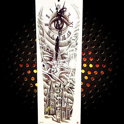 Handaxian 3pcsfull braccio adesivo femmina tatuaggio autoadesivo nero lungo maori totem tattoo body art impermeabile tatuaggio adesivo 3pcs-25