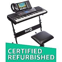 (Renewed) RockJam RJ561 61-Keys Electronic Keyboard SuperKit (Black)