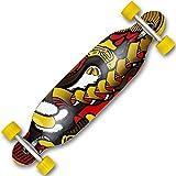 TW24 Cruiserboard - Freeride Boards - Skateboard - Longboard mit Motivauswahl (Inferno)