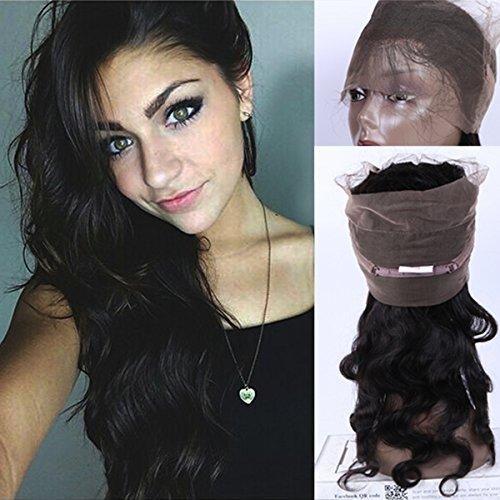 """Helene Hair Migliore Capelli vergini brasiliani Body Wave 360 Pizzo frontale Chiusura con dei capelli del bambino 130% Densità 20"""" Natural Color"""