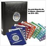SAFE 7360 PREMIUM Münzalbum Deutsche 5 Euro Münzen Blauer Planet Erde Gedenkmünzen komplett + 6 Münzblätter & Vordruckblätter 2016 - 2017 - 2018 - 2019 - 2020 - 2021