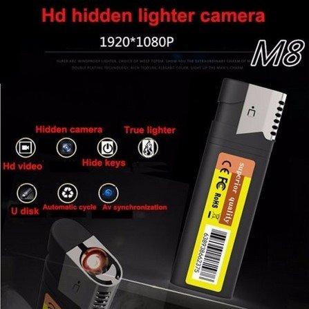 1080P HD Spy Versteckte Spion Kamera Leichter Elektronisches Feuerzeug DVR Bewegung Tragbare Mini DV ohne Objektiv Recordern ohne Löcher@Laing-H