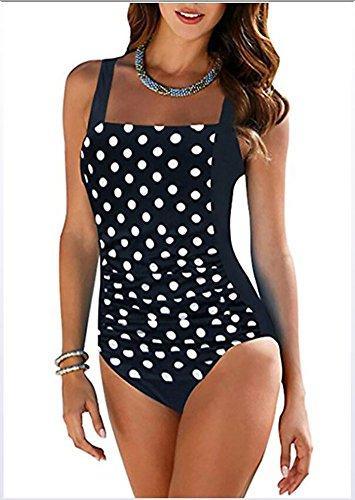 Schwimmen Kostüm H&m - OOSM&H Frauen Schwimmen Kostüm Tropischen Blumendruck, High Cut Badeanzug, Rückenfreie One Piece Bikini,M