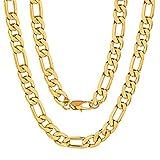 ChainsPro Herren-Halskette Panzerkette 9mm breit, 925er Sterling Silber Schmuck, Männer Halskette Gliederkette Silberkette, Länge 24'