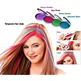 Inglis Lady Zeeko Hot Huez Instant Hair Highlight Temorary Hair Chalk With 4 Colors Chalk For Use Party & Any Occasion Trendy Fashionable Just Press Slide And Instant Colour Solution Zero Side Effect