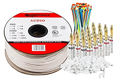 MutecPower -Speaker Wire 2 x 4mm² (12AWG) 100M CL2 Rated