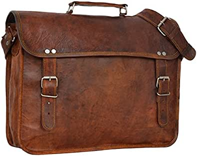 "Gusti Leder nature ""Paul"" Genuine Leather Satchel Shoulder Messenger Bag Business Office Briefcase Vintage College University Laptop Bag Unisex Brown U24"