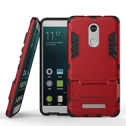 Axon 7 Hülle,EVERGREENBUYING Abnehmbare Hybrid Schein TianJi 7 Tasche Ultra-dünne Schutzhülle Case Cover mit Ständer Etui für ZTE Axon 7 Silber Red
