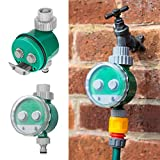Green Habitat Automatic Electronic Timer Hose Tap Irrigation Plant Watering Daily 24hr, Green