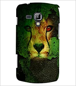 PrintDhaba Leopard D-4833 Back Case Cover for SAMSUNG GALAXY S DUOS 2 S7582 (Multi-Coloured)