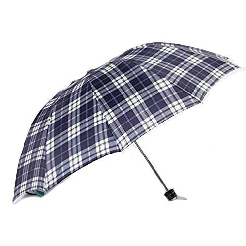 Go Further Grid Geschäft England Falten Sonnenschutz Queen-Size-windproof schwarzen Regenschirm