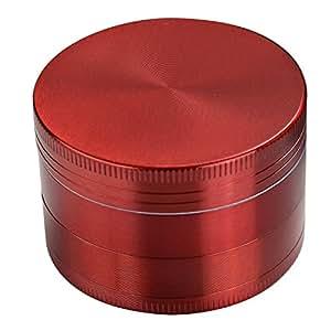 """LIHAO Grinder Garrantie à Vie, 2""""(5cm) Grinder en Zinc Alliage en 4 Pièces - Rouge"""