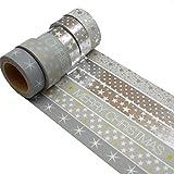 K-LIMIT 6 Set Washi Tape rollos de Washi Tape, cinta decorativa autoadhesivo, cinta de enmascarar, masking tape Scrapbooking DIY Scrapbooking Navidad Christmas idea del regalo 8774