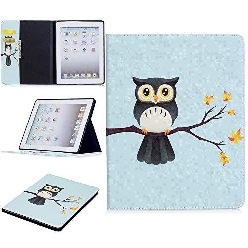 JUFENGYAO Niedlicher Panda-Eulen-Schmetterlings-Blumen-Entwurfs-Tablet-Standplatz-Kartenschlitz-Kasten kompatibel mit für iPad 2./3 ./4. Generation Tablethülle (Pattern : 4) - 2. Blumen Generation Ipad Cases