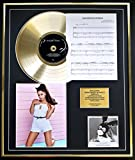 EC Ariana Grande CD Gold Disc und Photo und Song Sheet Display/Limitierte Auflage/COA/Album, Dangerous Woman/Song Sheet, Dangerous Woman