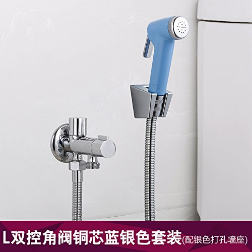 GFEI toilettes pistolet fixé / un angle inlet deux sortie nettoyage valve / femmes / ménages d'sanitaires multifonctionnelle robinet,f