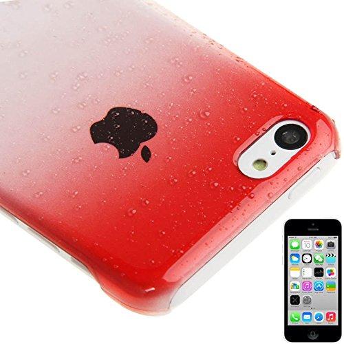 Wkae Case Cover Gradient Raindrop Effect Crystal Schutzhülle für iPhone 5C ( Color : Baby Blue ) Red