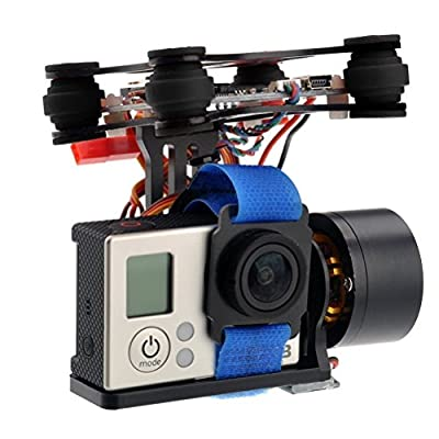 HankerMall 2-Axis Brushless Gimbal Camera with Motor Controller for DJI Phantom GoPro Hero3+ Hero3 FPV