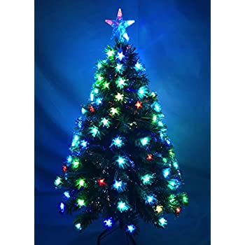 4ft 120cm Superstar Green Fibre Optic Led Christmas Tree Amazon