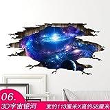 ALLDOLWEGE 3D Stereo Decke Wand Aufkleber Dach Zimmer ornament Wohnzimmer Schlafzimmer kreative Persönlichkeit selbstklebende Dach Aufkleber 3D-Universum Galaxie