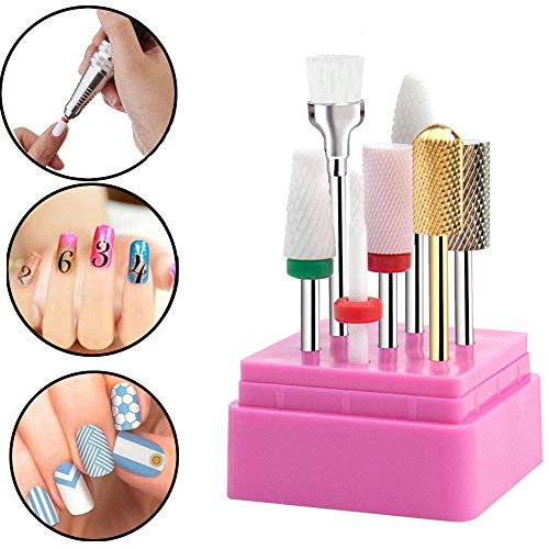 Punta per fresa professionale bit in ceramica in acciaio inossidabile punte carbide per manicure e pedicure