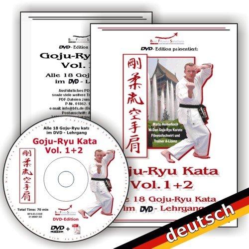 Goju-Ryu-Kata Vol.1+2 auf einer DVD, Alle 18 Goju-Ryu Kata im DVD-Lehrgang, Deutsche-Produktion inkl. Bonusmaterial