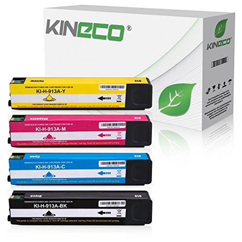 Preisvergleich Produktbild Kineco 4 Tintenpatronen kompatibel zu HP 913A für HP Pagewide 352dw Pro 452dn 452dw 452dwt