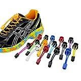 LeeIU Elastische Schnürsenkel Lock Laces für Fußball,Running, Wandern,Marathon,Reflektierend Schnürsenkel mit Schnellverschluss,Perfekte Passform, Starke Abnutzung und Komfort,Schwarz