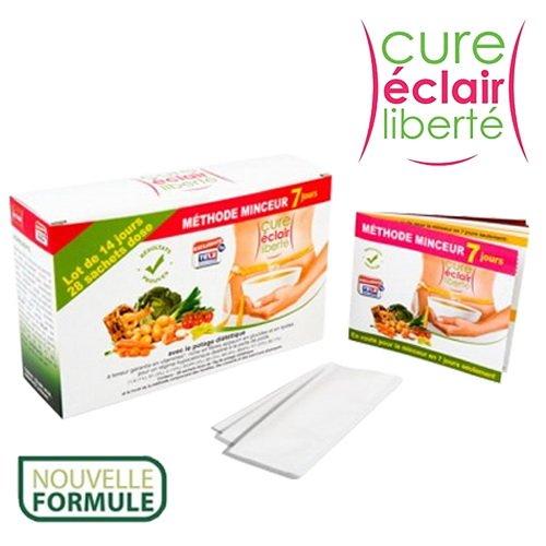 CURE Eclair Liberte Plus Sopa dietética hipocalórica para perder peso, bolsas monodosis para 14días, rica en fibras y vitaminas y baja en glúcidos y lípidos