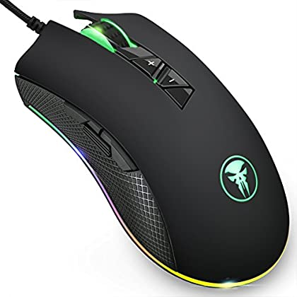Wired Gaming Mouse, FNOVA RGB Gamer Mouse con 8...