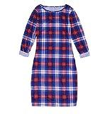 Damen Herbst Winter Dress Mädchen Prinzessin Dress Mutter Tochter Abendkleid Elegant Kariertes Kleid