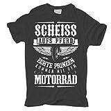 Männer und Herren T-Shirt Scheiss auf's Pferd - Prinzen kommen mit dem Motorrad