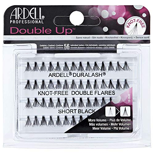 (3 Pack) ARDELL Professional Double Individuals Knot-Free Double Flares - Short Black