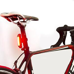 Luz de Bicicleta con LED Potente. Luz Intermitente USB Recargable con 6 Modalidades. Faro para Bici Brillante y Resistente al Agua (TRASERA COLOR ROJO)
