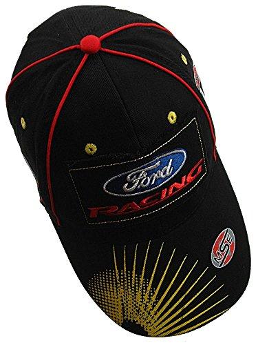 Preisvergleich Produktbild Ford Racing omse schwarz Distressed Logo Flex Fit Rally Kreuz Hat Cap