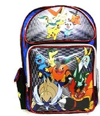 Pokemon 40cm grand holographique grand sac à dos d'école 3D   vite expédiés des Etats-Unis