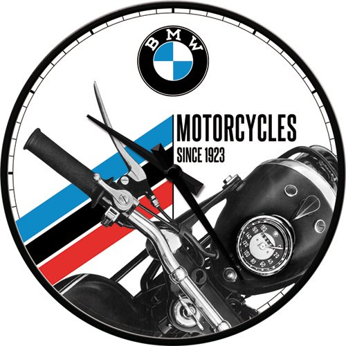 Price comparison product image Nostalgic Art BMW Motorcycles Since 1923 Clock - 31 CM