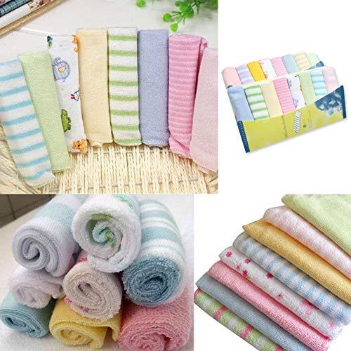 h Stilltücher Baby Handtücher Baby Lätzchen Taschentuch Waschlappen 8-teiliges Set ()