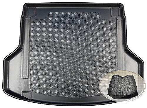 ZentimeX Z3354193 Geriffelte Kofferraumwanne fahrzeugspezifisch + Klett-Organizer (Laderaumwanne, Kofferraummatte)