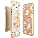CE-Link Coque iPhone SE Coque iPhone 5S/5, Licorne Housse Etui en PC Matière pour...
