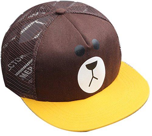 Belsen Kind Hip-Hop K Schreiben Cap Baseball Kappe Hut (Braun bär) (Minion Mütze Hut)