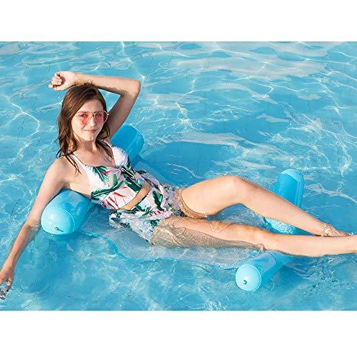 Kostüm Bezogene Auto - SSBH Erwachsene Wasser-aufblasbare Netz-Hängematte, schwimmendes faltendes Rückenlehnen-aufblasbares Sofa-Recliner-Luxusbett, kreatives stuhlförmiges Luftsofa-Recliner-Strand-Swimmingpool-Küsten-Parte