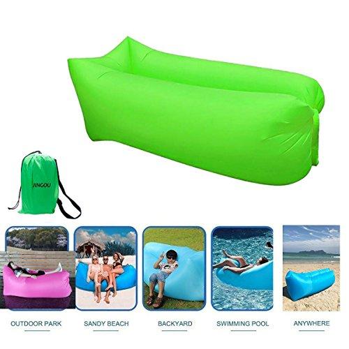 JINGOU - Tumbona hinchable con bolsa de transporte, tumbona de playa, sofá hinchable, sofá, cama, piscina, flotador para interior/exterior, senderismo, camping, playa, parque, patio trasero, resistente al agua, Style 7